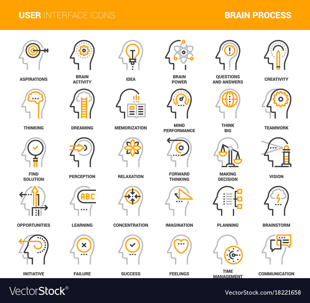 Thinking and brain process