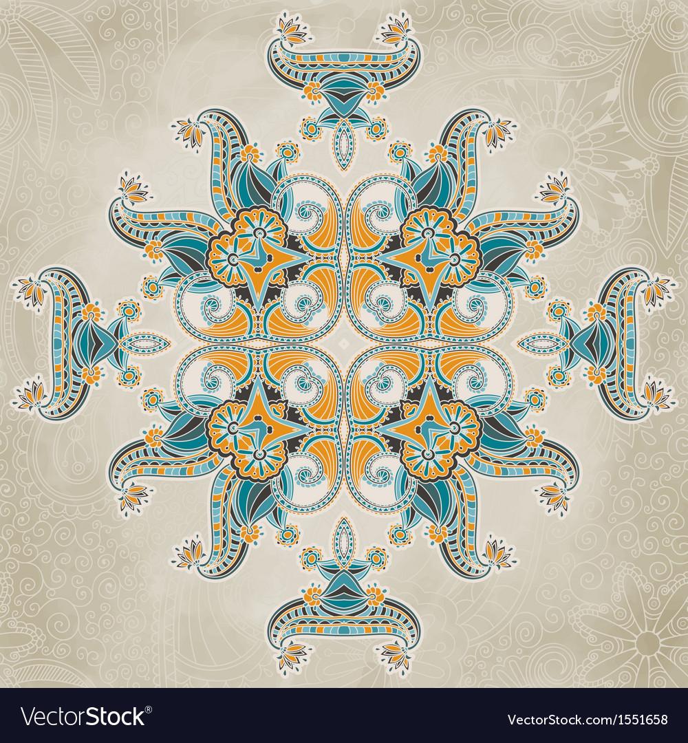 Vintage ornamental floral template