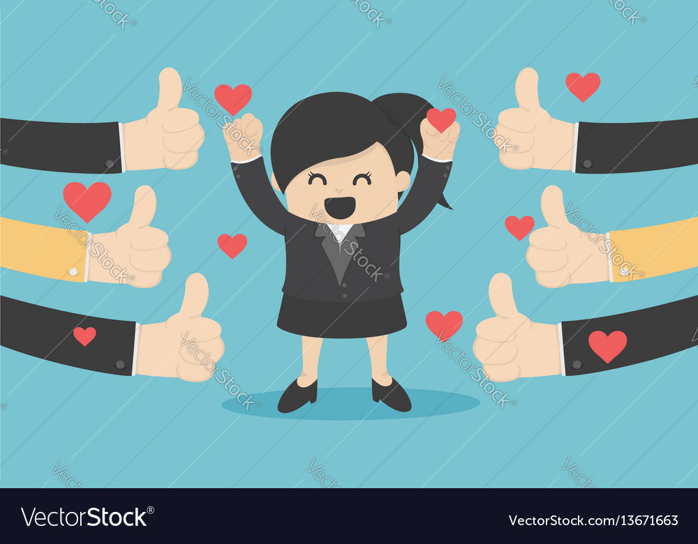 A successful business woman many vector image