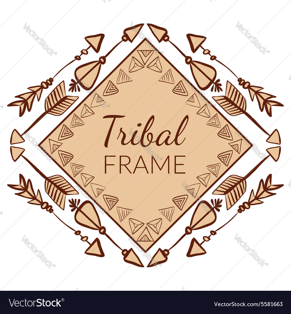 Abstract Tribal Frame