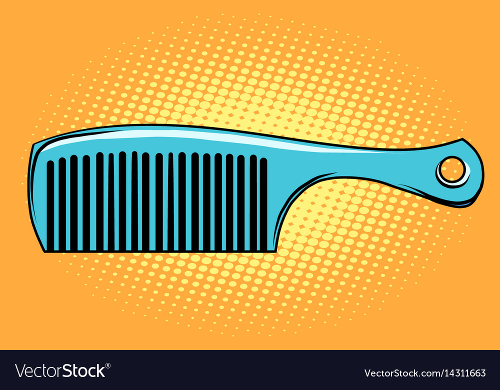 Blue hair comb vector image