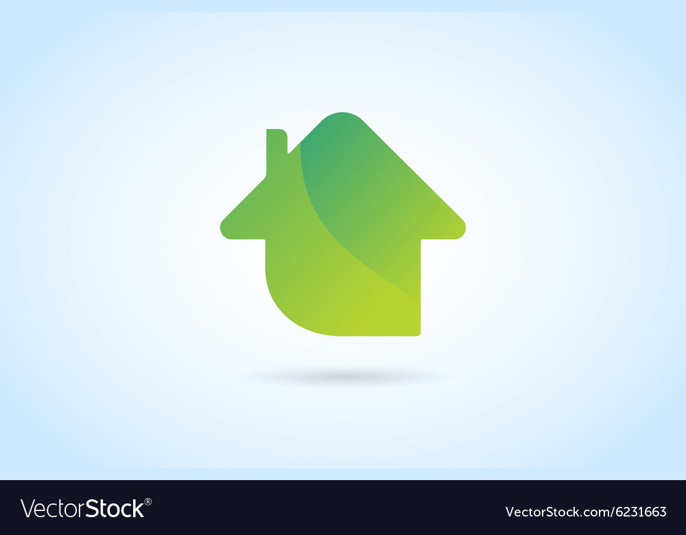 Green house home logo