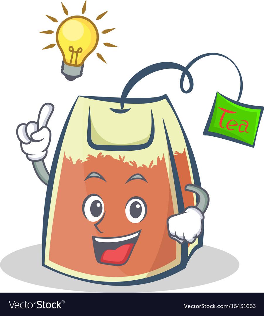 Have an idea tea bag character cartoon art vector image