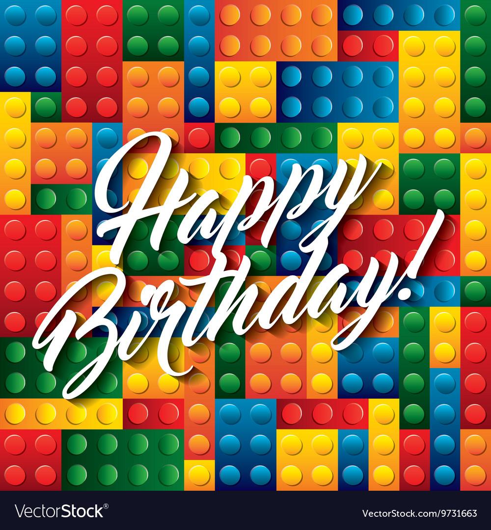 Lego pieces icon happy birthday design royalty free vector lego pieces icon happy birthday design vector image stopboris Gallery