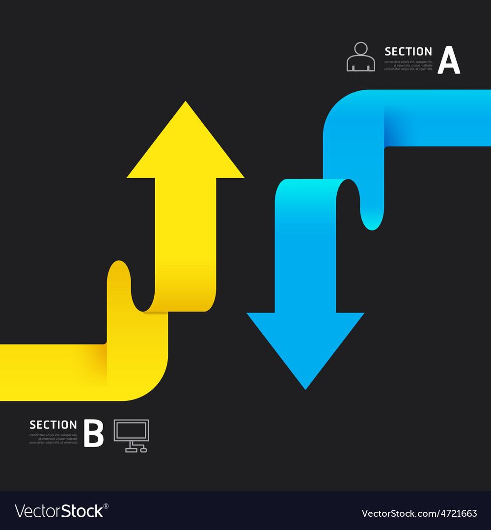 Modern infographics design arrow options banner