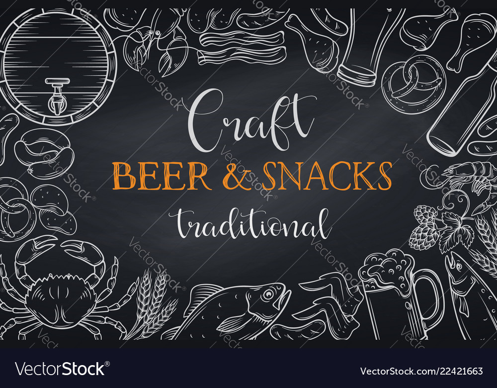 Pub food and beer template