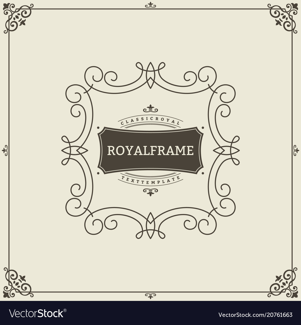 Vintage ornament greeting card template