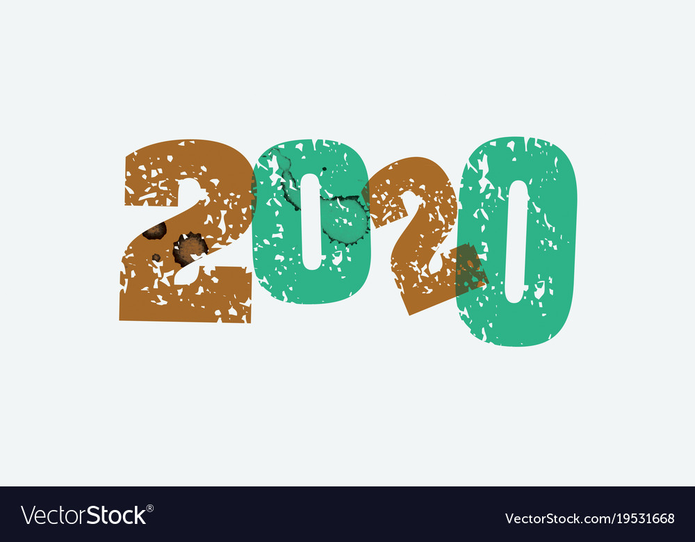 2020 concept stamped word art Royalty Free Vector Image