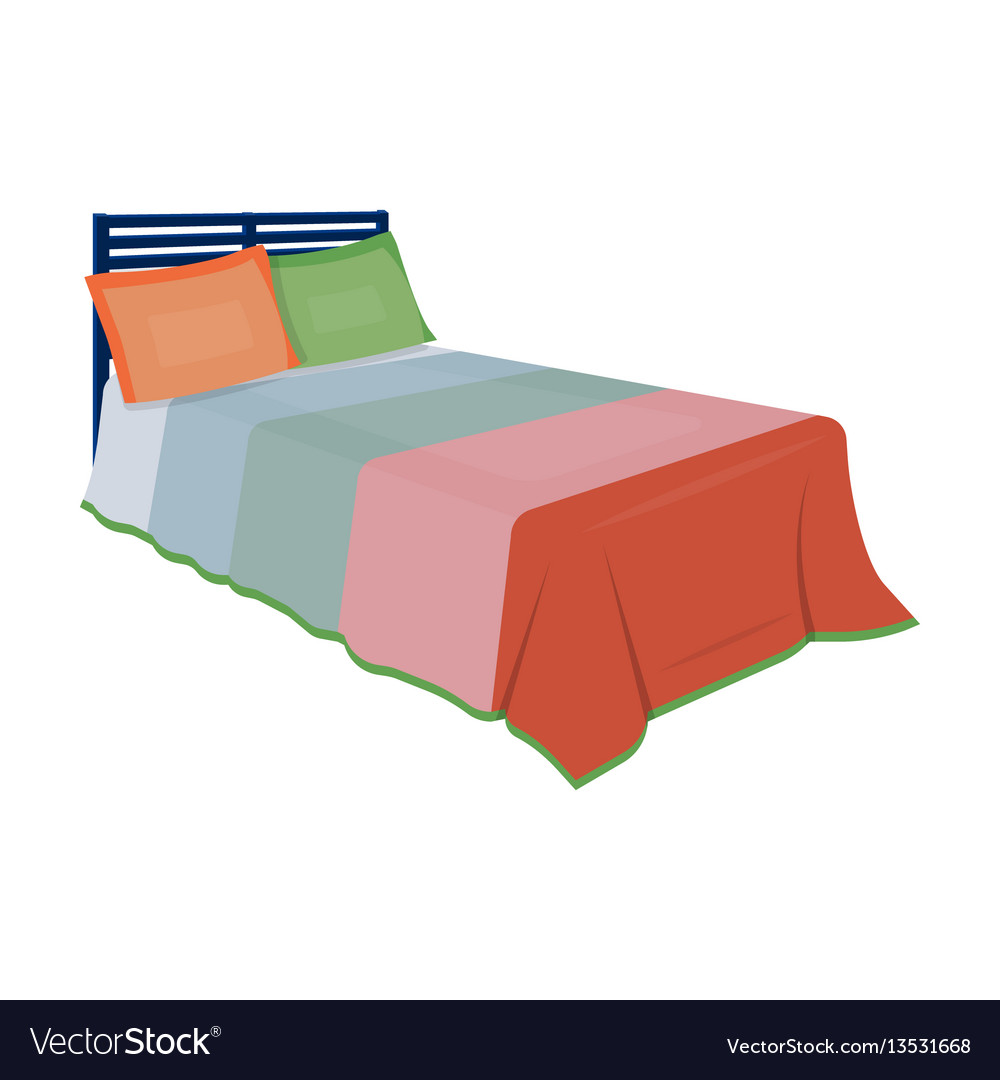 Baby bed with colorful blanketbed for sleeping