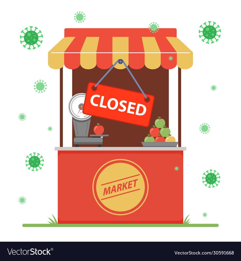 Closure a small business due to coronavirus