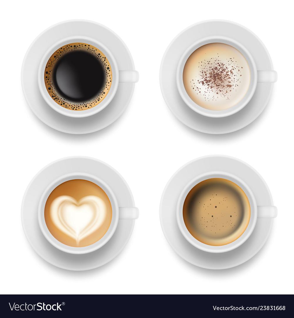 Coffee cup top hot milk espresso latte breakfast