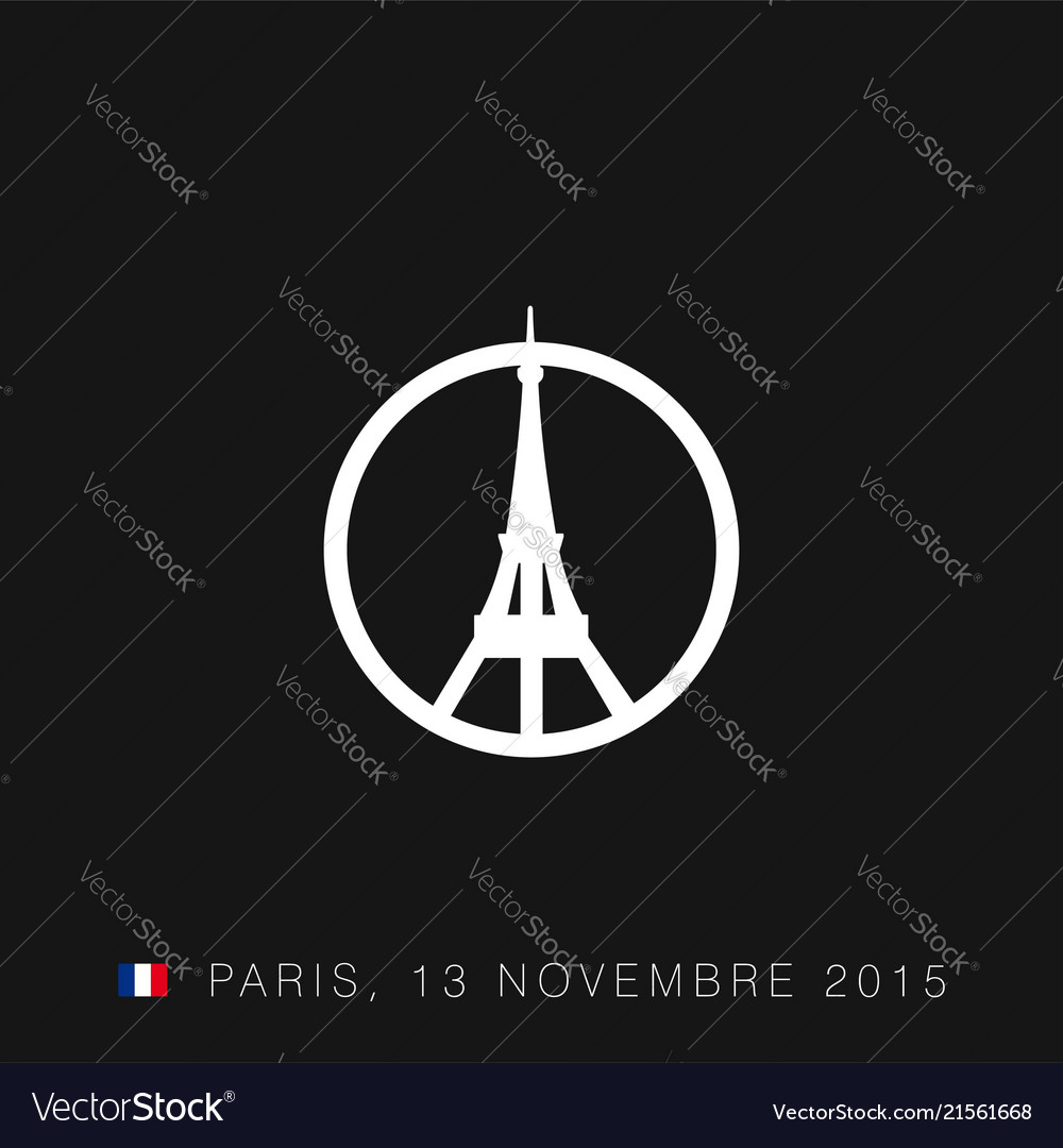 pray for paris typography with creative design vector image