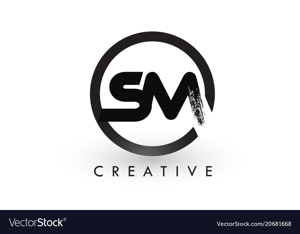 Sm logo letter design Royalty Free Vector Image