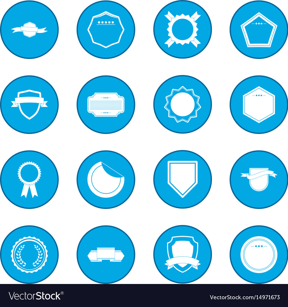 Badges icon blue