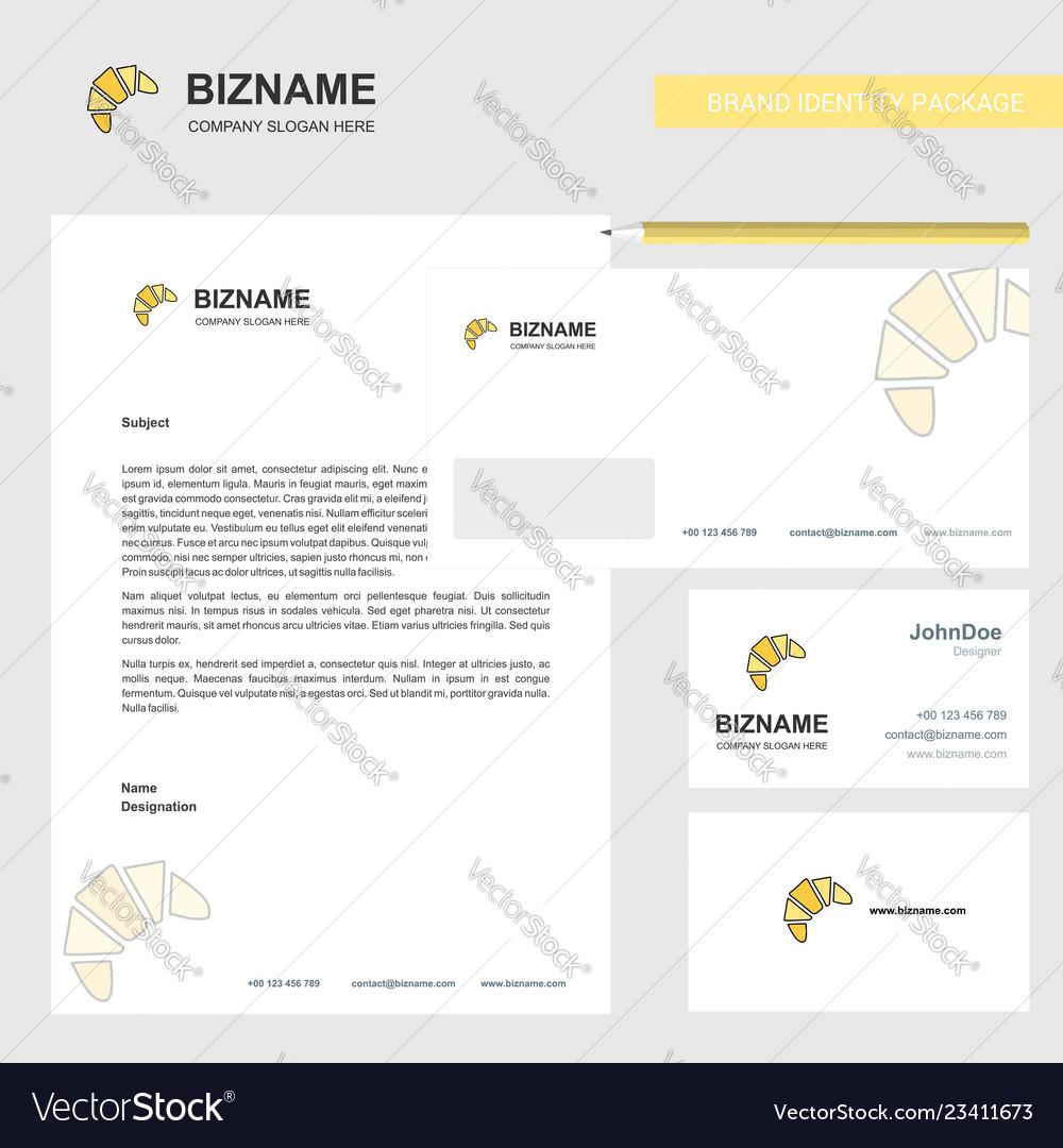 Bun business letterhead envelope and visiting