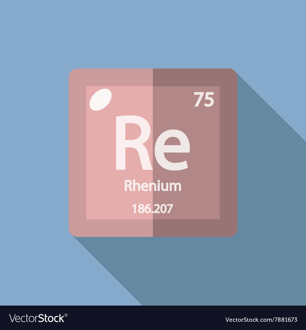 Chemical element Rhenium Flat