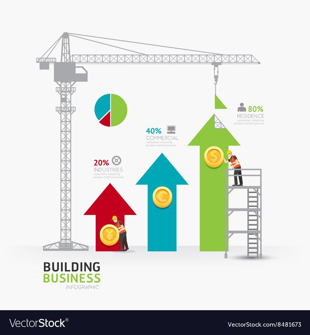 Infographic business arrow graph template design