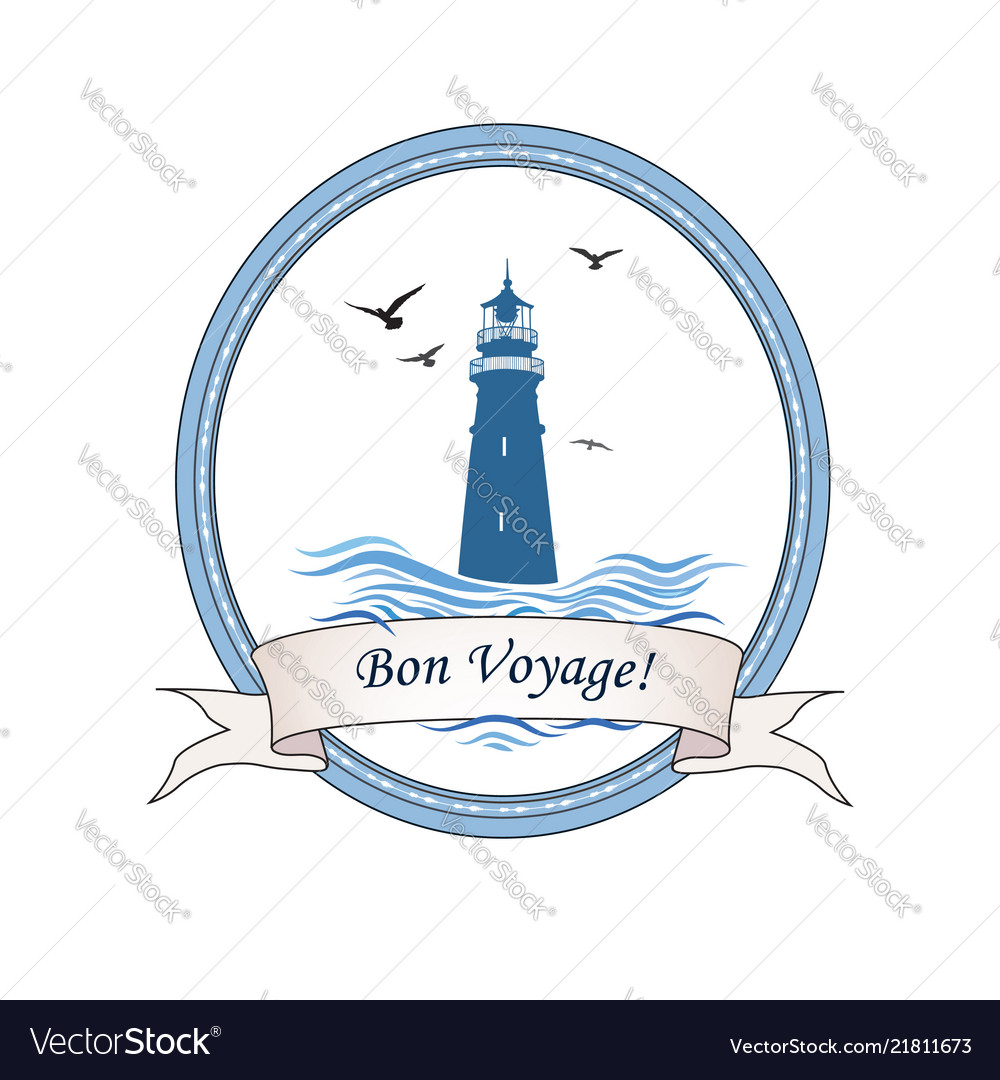 Lighthouse logo nautical icon with lighthouse