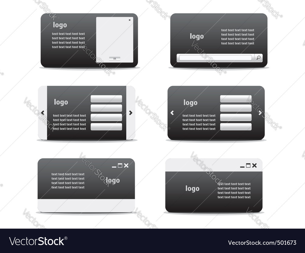 Web business card set 01