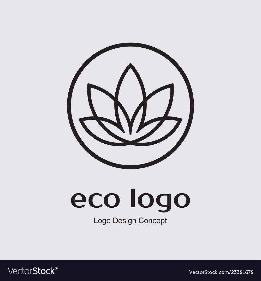 Abstract flower logo design creative lotus symbol