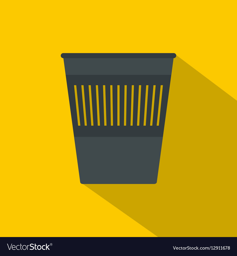 Bin for papers icon flat style