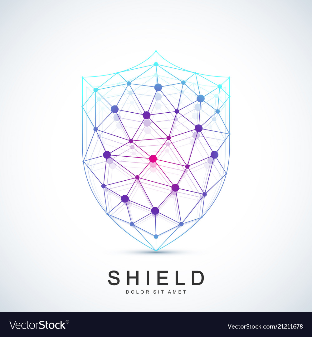 Colorful template shield icon protection