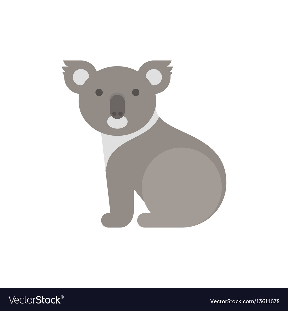 Flat style of koala bear