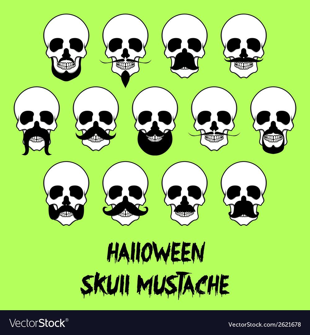 Halloween Skull Mustache