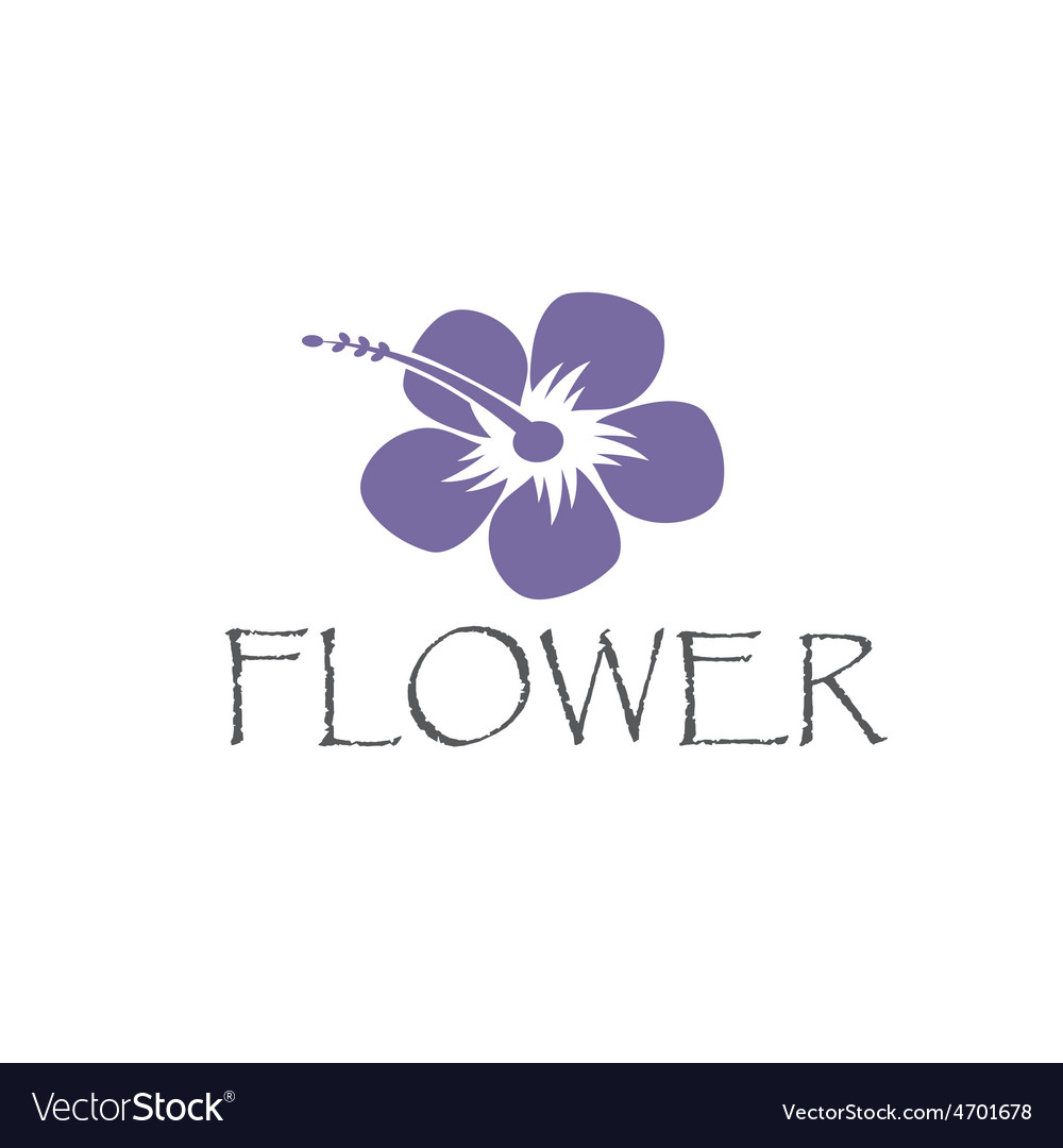 Hibiscus Abstract Flower Royalty Free Vector Image