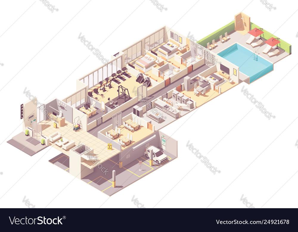 Isometric hotel interior