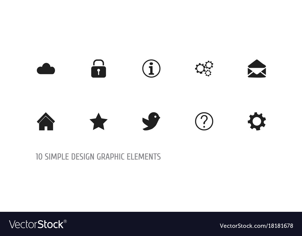 Set Of 10 Editable Web Icons Includes Symbols Vector Image