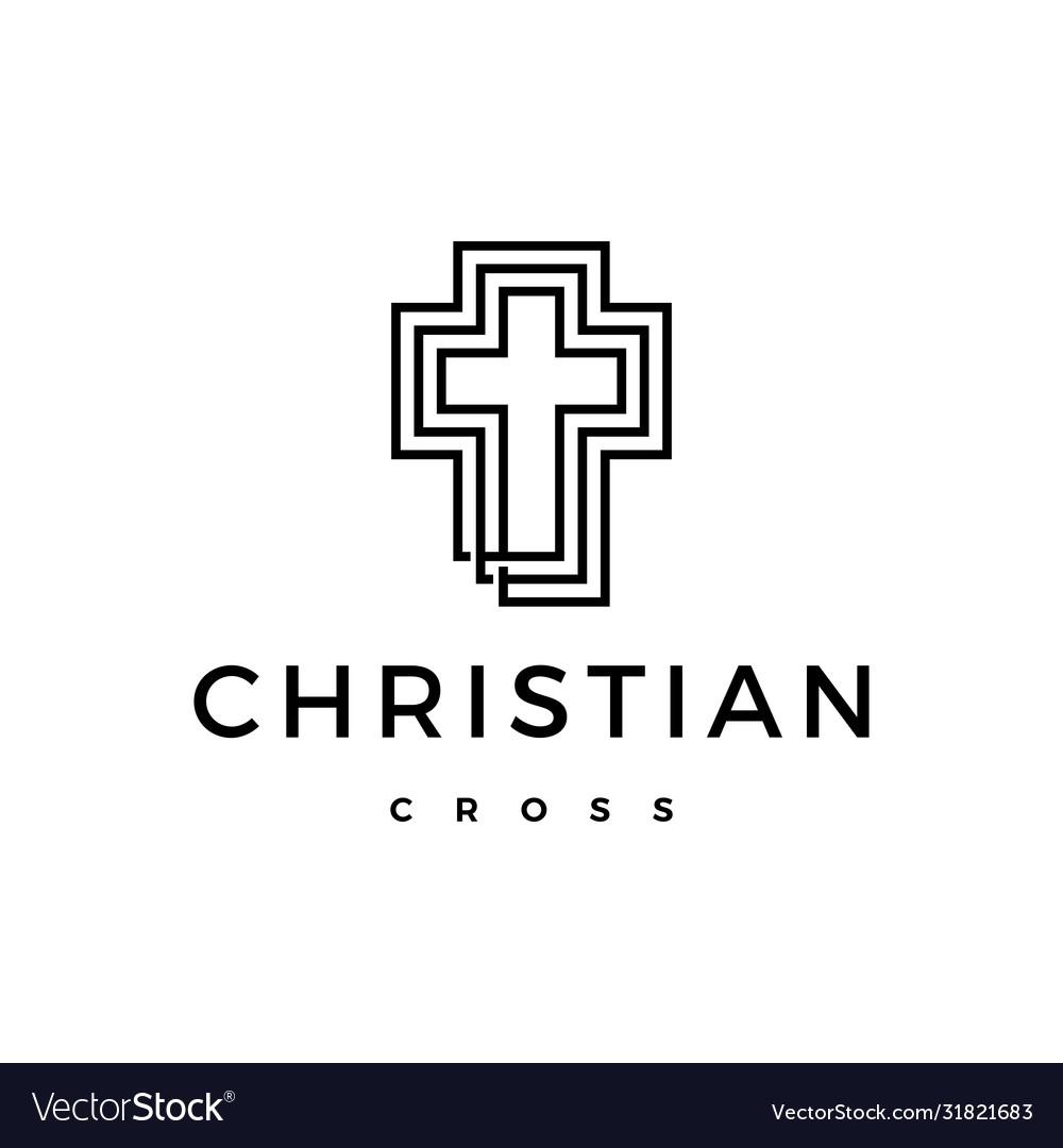 Christian cross logo icon