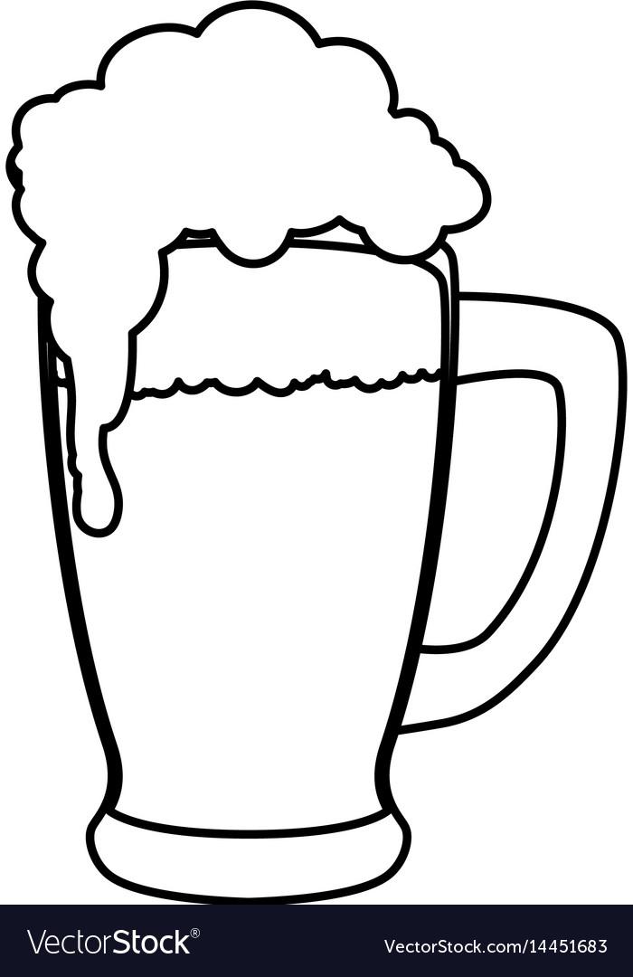delicious beer draw royalty free vector image vectorstock