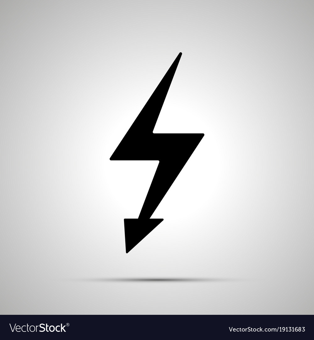 Electricity symbol simple black power icon