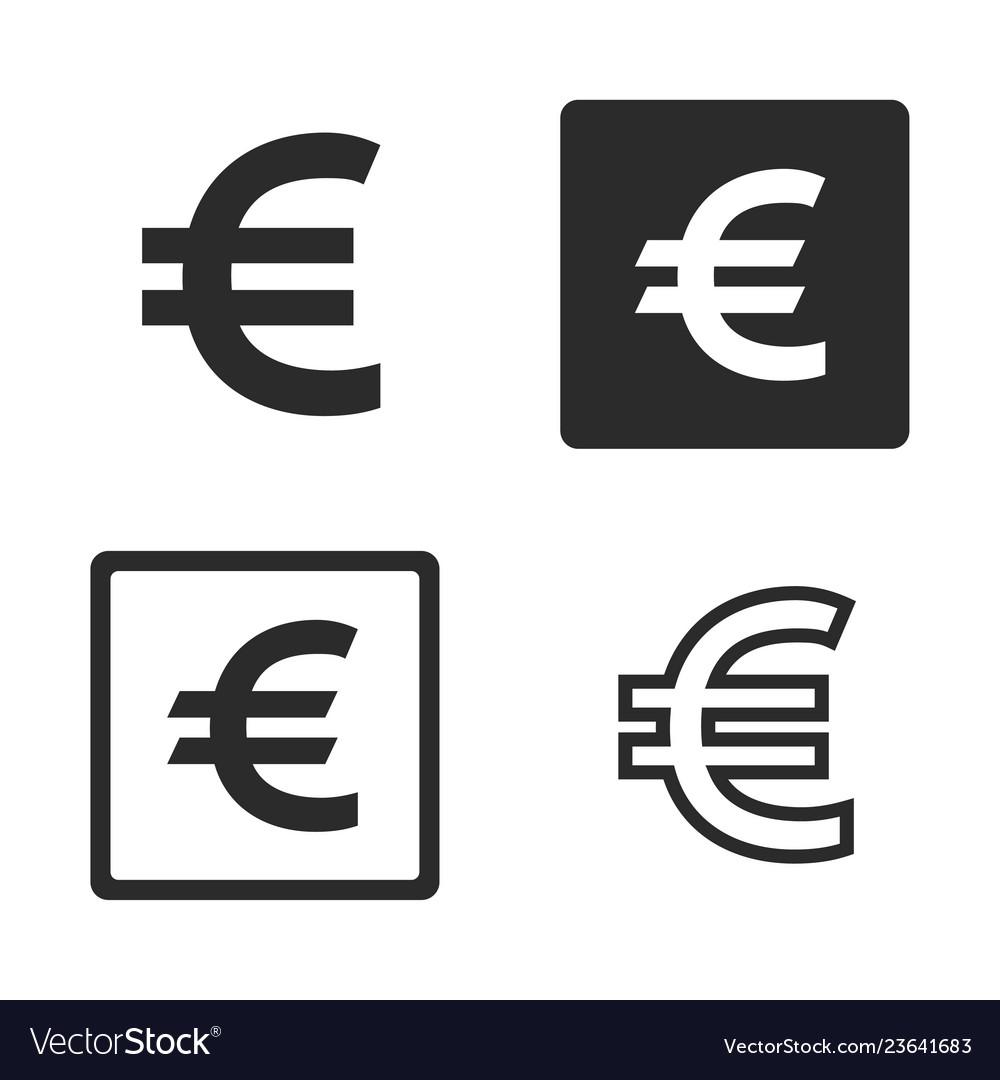 Euro currency symbol set