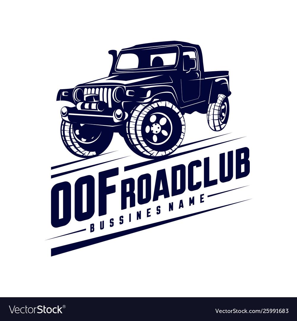 Off Road Car Logo Off Road 4x4 Extreme Car Club Vector Image