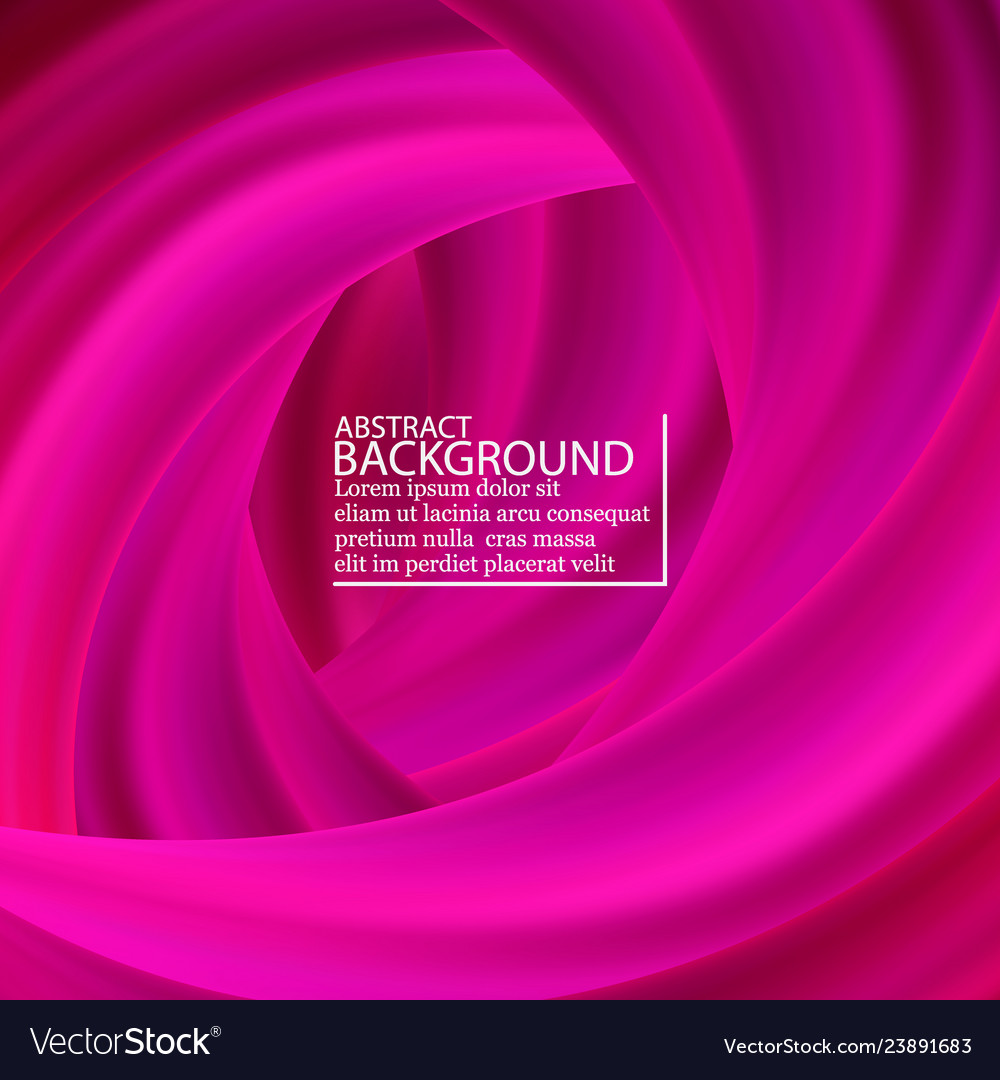 Pink wave brush shape abstract background 3d