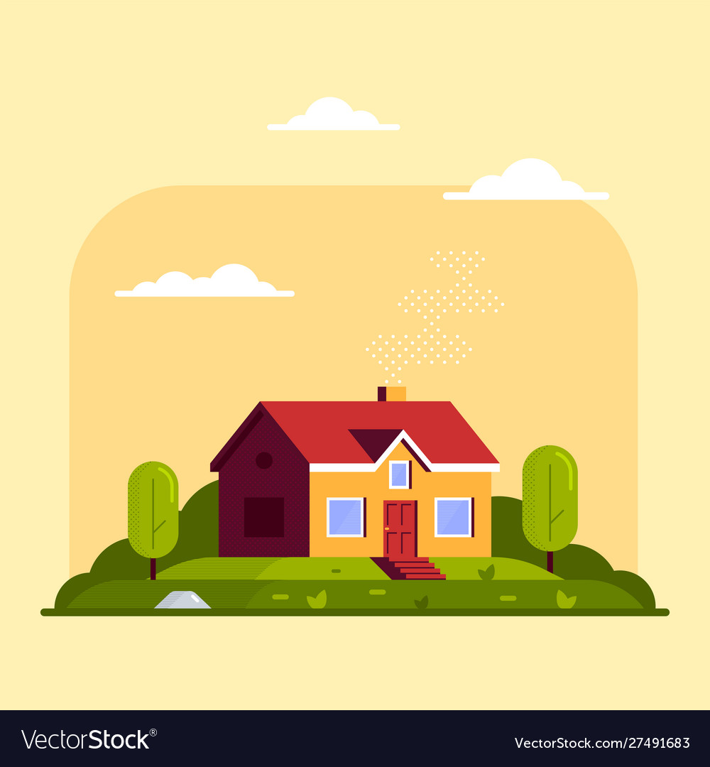 Private family cottage house flat style