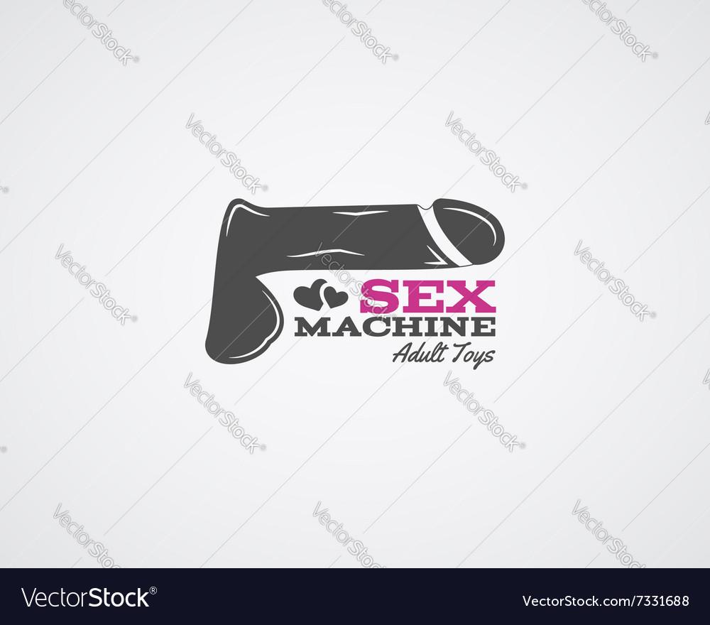 Cute Sex shop logo and badge design template Sexy vector image