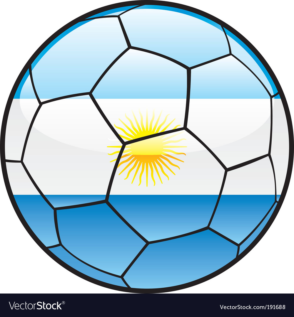 Flag of argentina on soccer ball