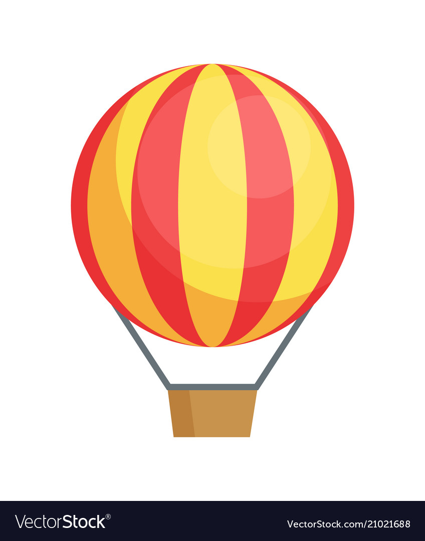 Flying airballon poster air transport icon