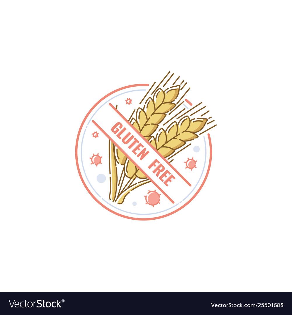 Gluten free label badge for healthy no-allergen
