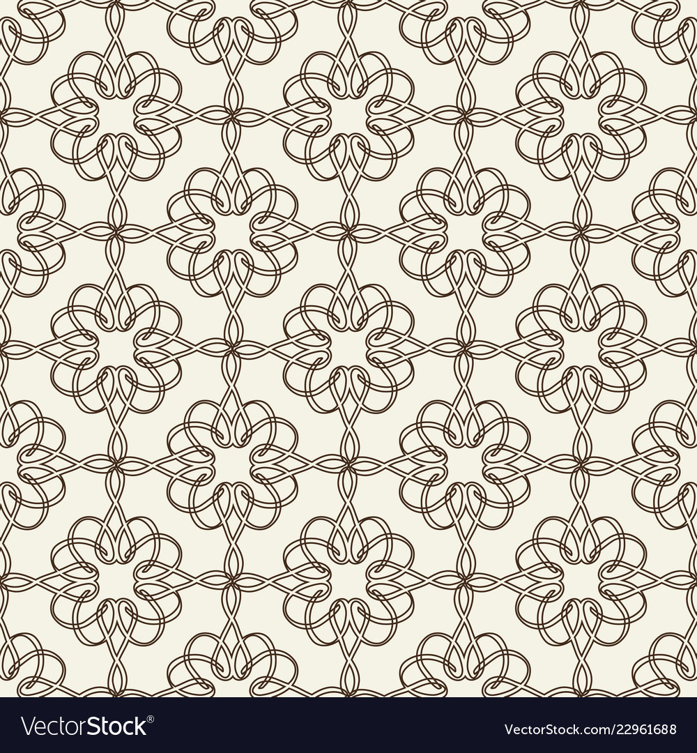 Lacy seamless pattern on floral theme