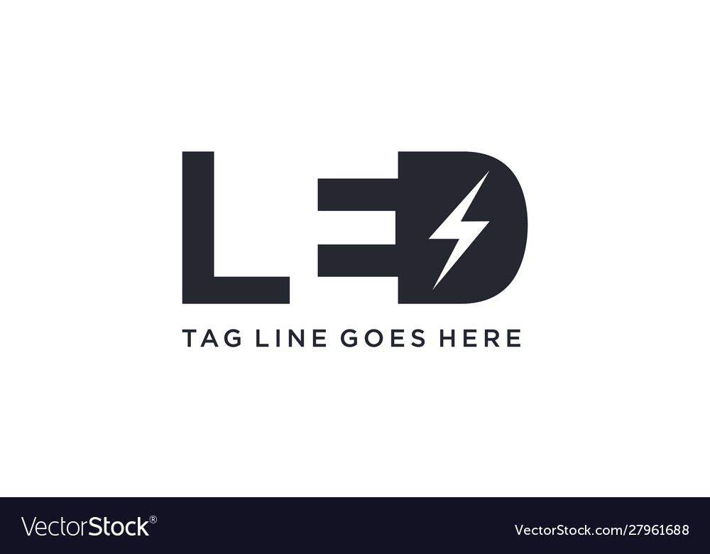 Led Light For Logo Design Concept Royalty Free Vector Image
