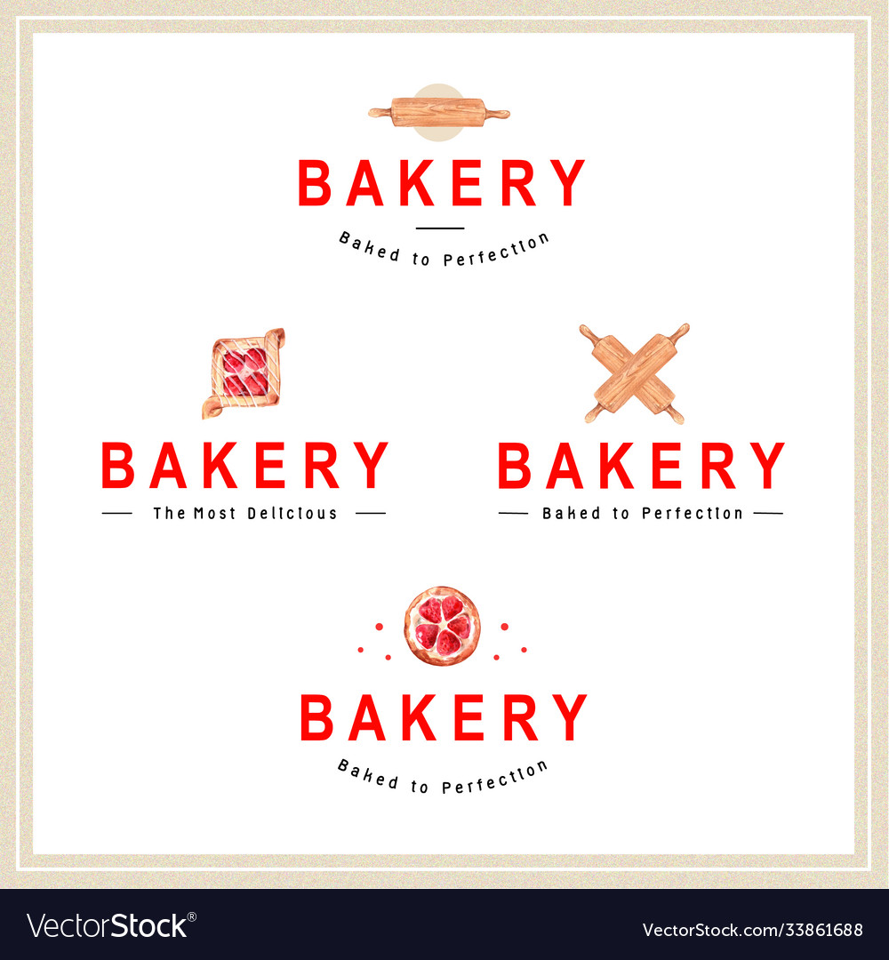 Logo bakery design for restaurant and cafe