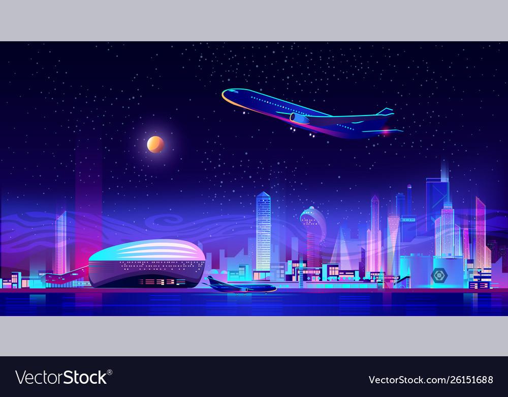 Metropolis airport cartoon background