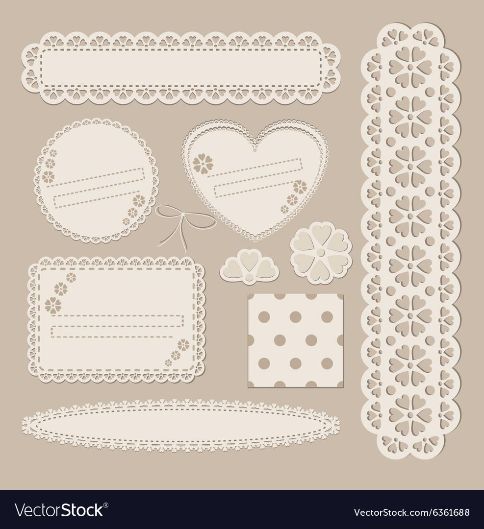 Scrapbook set with different elements - scrapbook