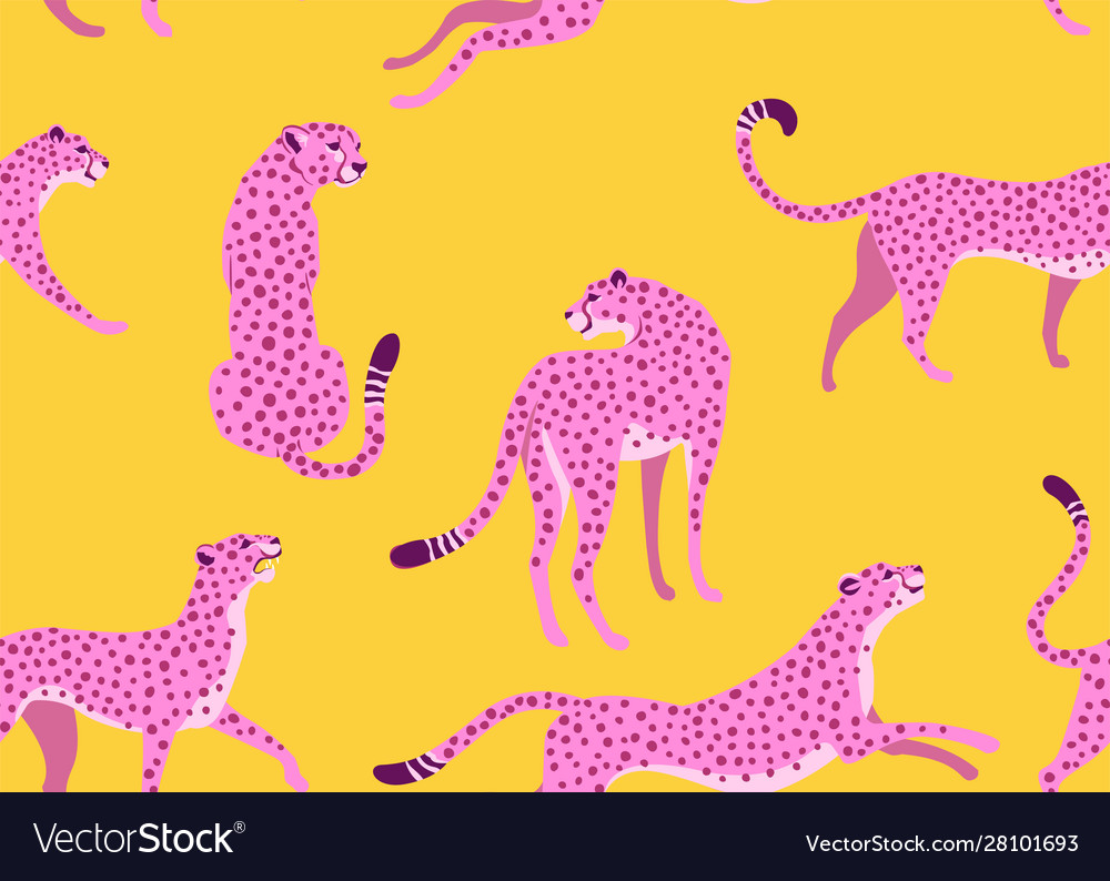 Abstract leopard pattern seamless texture