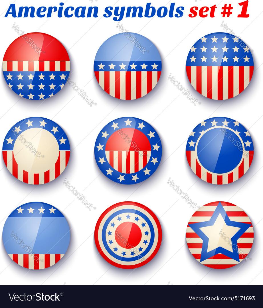 American symbols set1