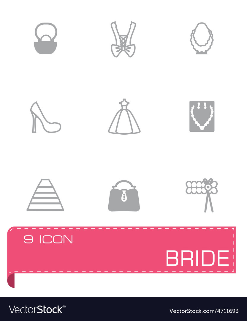 Bride icon set